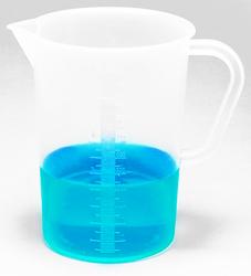 Dynalon 500 ml Capacity Polypropylene Tall Form Lab Pitcher - Pack of 24