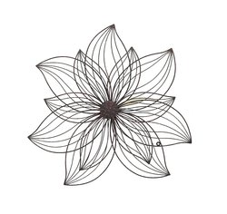 Transpac Home Decor Metal Wall Flower - Size: Small