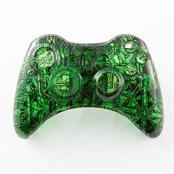 GamerModz Clear Green Circuit Board Custom Controller Shell for Xbox 360