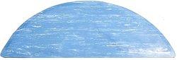 "Durable 36x60"" Half Circle Beauty Salon & Barber Floor Mat - Marble Blue"