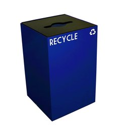 Witt 24 gal GeoCube Recycling Receptacle Bin - Blue (24GC04-BL)