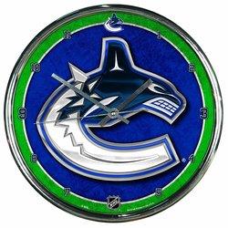WinCraft NHL Vancouver Canucks Chrome Clock