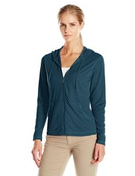White Sierra Women's Bug Free Zip Pullover Hoodie - Pond - Size: Small