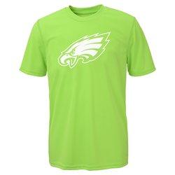 NFL Boys Philadelphia Eagles Performance Tee - Neon Green - Size: Large
