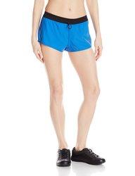 Mizuno Women's Running Firefly 2.5 Shorts - Turkish Sea-Black - X-Large