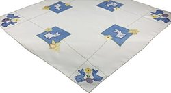 Xia Home Fashions Baby Bunnies Embroidered Easter Table Topper, 34 by 34-Inch