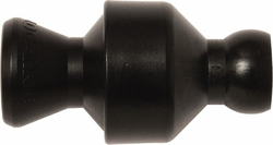 "Loc-Line Coolant Hose Component, Black Acetal Copolymer, In-line Check Valve, 1/4"" Hose ID, 30 PSI (Pack of 10)"
