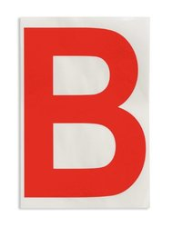 """Brady 121699 ToughStripe Die-Cut Polyester Tape, Red Letter """"B""""(Pack of 20)"""