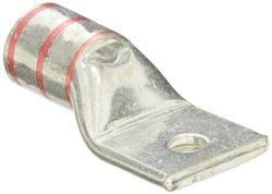 """Panduit LCAX300-38-6 Flex Conductor Lug, One Hole, Standard Barrel With Window, 313.1kcmil Diesel Locomotive Size, 300kcmil Class G/H/I/K/M Conductor Size, 3/8"""" Stud Hole Size, Red Color Code, 1-1/4"""" Wire Strip Length, 0.18"""" Tongue Thickness, 1.39"""" Tongue"""