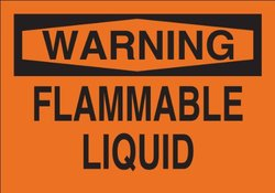 "Brady 69583 Premium Fiberglass Fire Sign, 10"" X 14"", Legend ""Flammable Liquid"""
