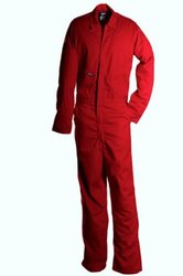 LAPCO CVFRD7RE-3XL TL Lightweight 100-Percent Cotton Flame Resistant Deluxe Coverall, Red, 3X-Large, Tall