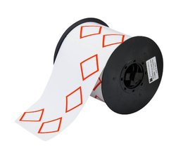 "Brady B30-262-7569-CLP4A  Vinyl Film, 4.000"" x 6.000"" BBP31 2 Color GHS Vinyl Tape - 4 Diamond (1 Roll of 200 Labels )"