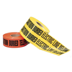 "Ideal 3"" x 1000' ""Caution Buried Telephone Line Below"" Tape - Orange"