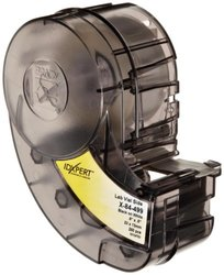 "Brady X-84-499 IDXPERT 0.5"" Height, 0.9"" Width, B-499 Nylon Cloth, Black On White Color Label (250 Per Cartridge)"