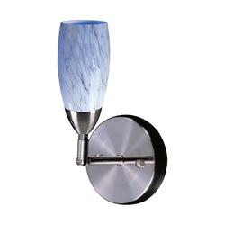 Elk 113-1SW 1-Light Wall Bracket- In-Satin Nickel And Snow White Glass