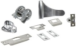 "SOSS UltraLatch Zinc One Complete Passage Unit for 1.75"" Thick Door, 2.75"" Backset, 5.5"" Height, 3.5"" Width, Satin Chrome Finish"