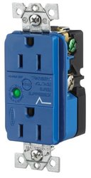 Spike Shield Circuit Guard Specification Grade Duplex Receptacle w/ Light