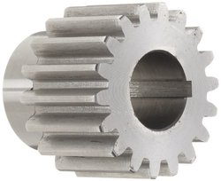 "Boston Gear YF18 Spur Gear, Steel, Inch, 10 Pitch, 0.750"" Bore, 2.000"" OD, 1.250"" Face Width, 18 Teeth"