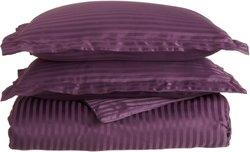 1500 Series 100% Brushed Microfiber Striped Duvet Cover Set