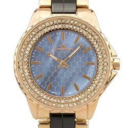 Tavan Mermaid Women's Watch: 62627437-rose Gold Case/navy Dial