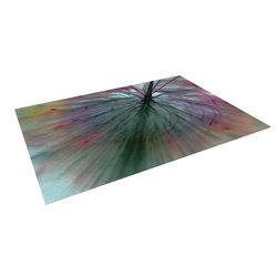 Kess InHouse Alison Coxon Fleur Outdoor Floor Mat - Size: 5' x 7'