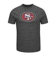 NFL San Francisco 49Ers Men's Victory Gear VII Short Sleeve Crew Neck Tee, Medium, Black Marled