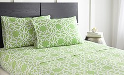 Spirit Linen Hotel 5Th Ave RUTHY-QU-MINT 4 Piece Ruthy Collection Sheet Set, Queen, Mint