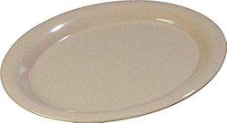 """Carlisle 4308071 Durus Melamine Oval Serving / Dinner Platter, 13.5"""" x 10.5"""", Sand (Pack of 12)"""