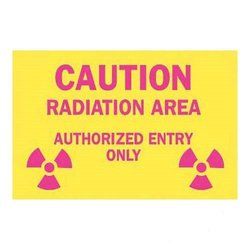 Brady 42858, Radiation and Laser Sign (Pack of 10 pcs)