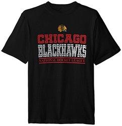 NHL Chicago Blackhawks Overtime S/S Tee - Black - Size: X-Large