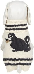 "Fab Dog Knit Turtleneck Dog Sweater Squirrel, Cream, 12"" Length"