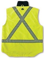 Ergodyne GLoWear  8378X Class-2X-Back Thermal Vest, Lime, Small
