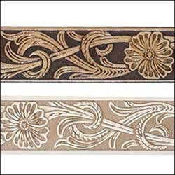 Tandy Leathercraft Embossed Running Floral Belt Blank 4591-00