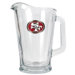 NFL San Francisco 49ers 60-Ounce Glass Pitcher - Primary Logo