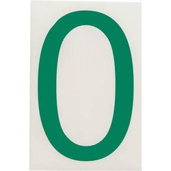"""Brady 121850, ToughStripe Die-Cut Numbers and Letters, 4"""" x 8"""" GREEN (Pack of 10 pcs)"""
