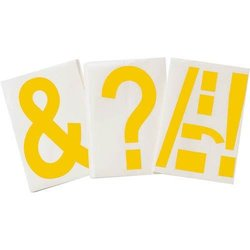 Brady 121912 ToughStripe Die-Cut Polyester Tape, Yellow Punctuation""