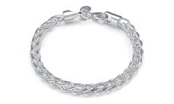 Rubique Jewelry Women's Sterling Silver Byzantine Bracelet
