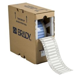"Brady 3PS-500-2-WT-SC 2"" Width x 0.851"" Height x 1"" Core Diameter, B-342 Heat-Shrink Polyolefin, Matte Finish White PermaSleeve Wire Marking Sleeve (Pack of 250)"