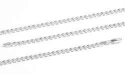 """Men's 20"""" Sterling Silver Heavy Weight Chain Necklace - Curb Design"""