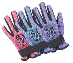 Ovation Child's Mesh Back Glove Horse Crest