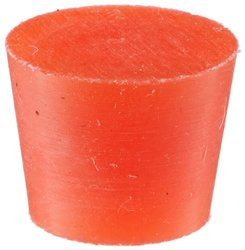 TapeCase Red, Silicone Tapered Stoppers, 0.800in b x 0.625in t x 0.625in L - 100 (Units/Package)
