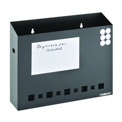 STEELMASTER Dry Erase Wall File Basket w/ Pen & Magnets - Black (27112004)