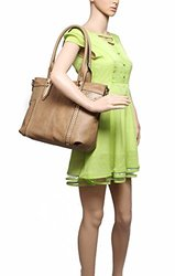 MKF Collection Women's Adele Style Handbag - Khaki - One Size