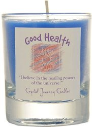 Good Health Crystal Journey Soy Herbal Filled Votive Candles - Healing
