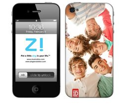 Zing Revolution One Direction Premium Vinyl Adhesive Skin for iPhone 4/4S, Group Shot, MS-1D80133