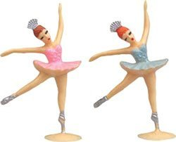 "Large Ballerina Cake Toppers - 5"" Tall - 24 Pieces"