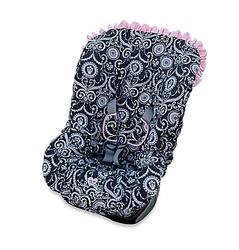 Baby Bella Maya Kids Printed Pink Ruffle Car Seat Cover - Zoe Zebra