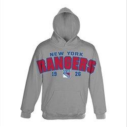 NHL New York Rangers Gold Plated Fleece, Medium, Heather Grey