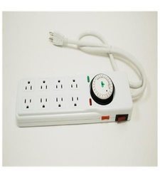 Gro1 8-Way Hydroponic Power Strip with Timer - 120V