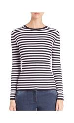 Michael Kors Striped Ribbed Sweater - Multicolor - Size: